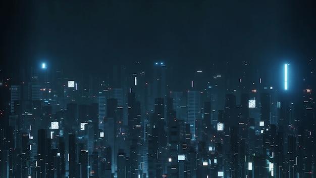 Città futuristica di notte