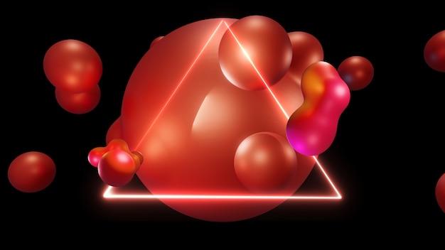Progettato per il liquido organico futuristico. pendenze astratte moderne di forme, fondo della struttura grafica, rappresentazione 3d