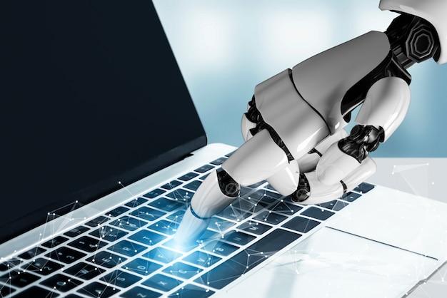 Concetto futuristico di intelligenza artificiale del robot.