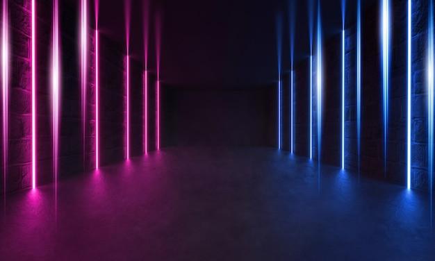 Futuristic sci-fi modern room, spettacolo laser