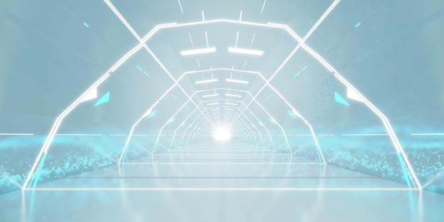 Design futuristico del corridoio del tunnel.