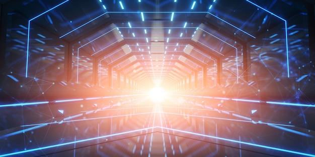 Design futuristico del corridoio del tunnel