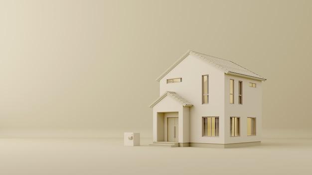 Gable houseminimal concept con copia spazio copy