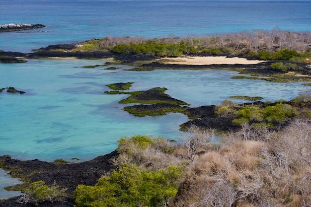 Vista sul mare delle isole galapagos