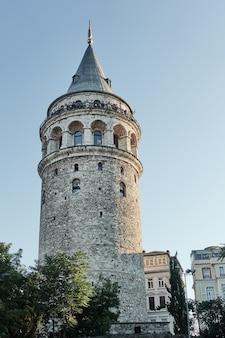 La torre di galata a istanbul, turchia
