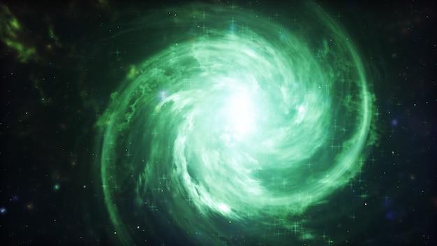 Galassia nello spazio, bellezza dell'universo, nuvola della stella, fondo della sfuocatura, illustrazione 3d