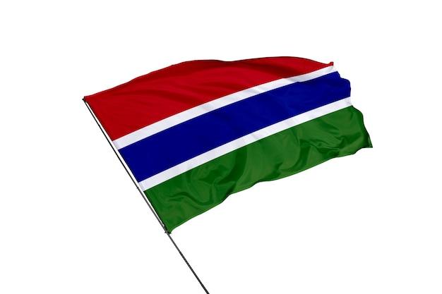 Bandiera del gambia su sfondo bianco
