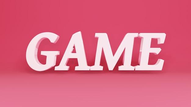 Logo del gioco 3d su sfondo con ombre