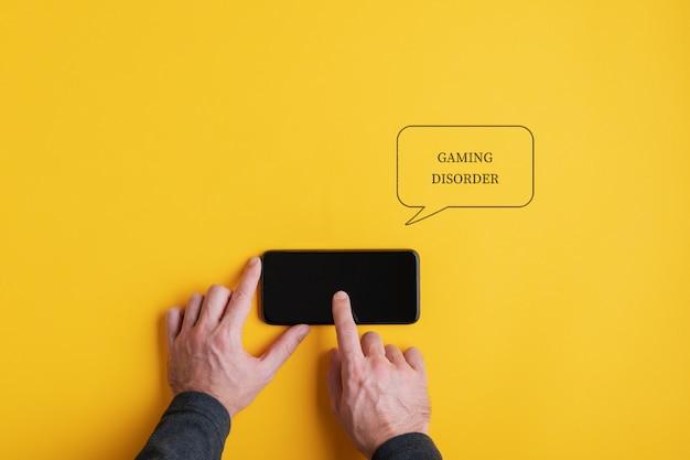 Immagine concettuale di disturbo del gioco