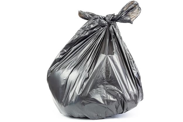 Sacco della spazzatura isolato su sfondo bianco. Foto Premium