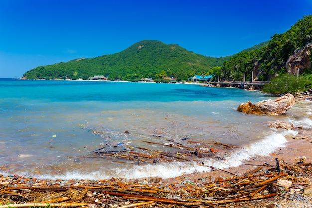 Rifiuti in spiaggia , inquinamento ambientale