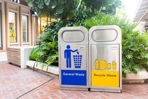 Contenitori per immondizia per il trattamento di vari tipi di rifiuti