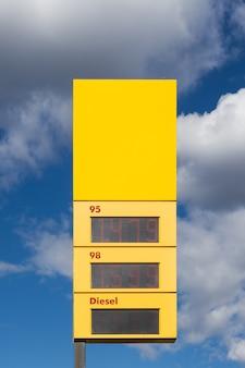 Quadro di valutazione della benzina Foto Premium