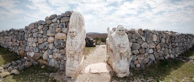 Cancelli in hattusa, capitale della civiltà ittita - corum, turchia