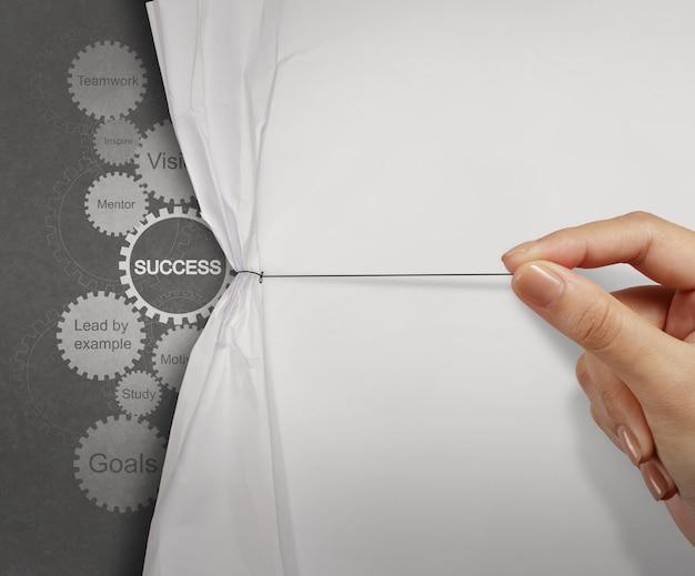 Grafico di successo di affari dell'ingranaggio come concetto