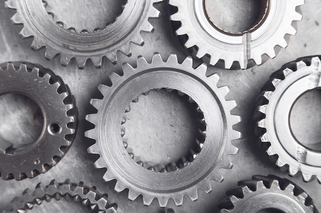 Meccanismo di ingranaggi sull'industria metallurgica