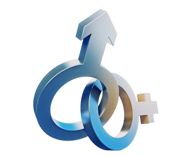 Simboli di genere isolati su sfondo bianco