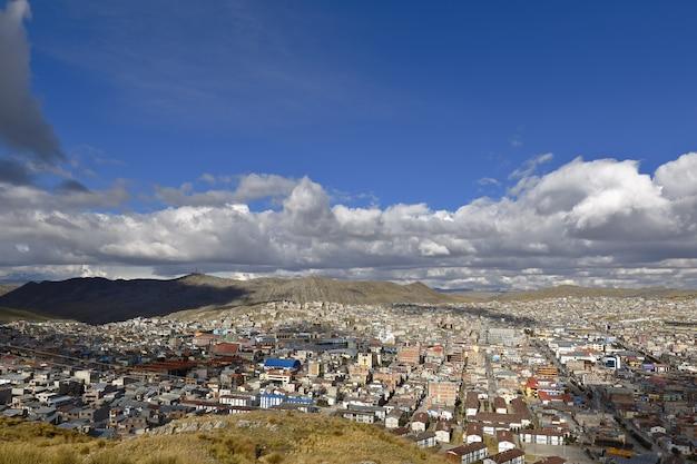 Vista generale della città di pasco