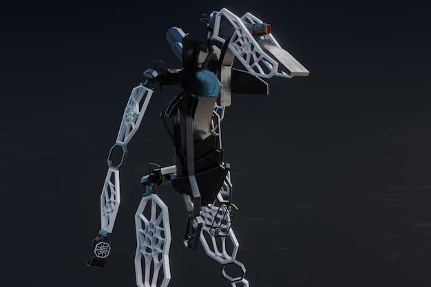 Robot generativo - illustrazione 3d