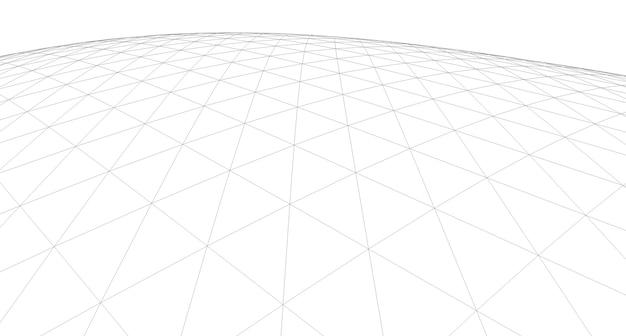 Sfondo geometrico, disegno astratto, architettonico, costruzione, wireframe