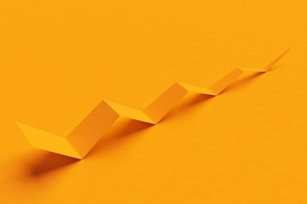 Sfondo geometrico. sfondo astratto colorato per il design .3d illustrazione di un foglio di carta giallo piegato in una piega