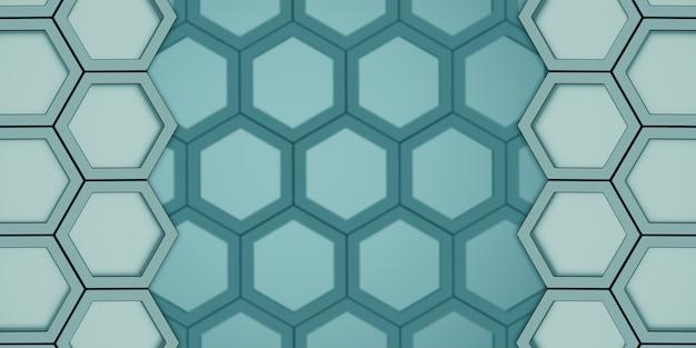 Esagono geometrico motivo poligonale nido d'ape esagonale lucido