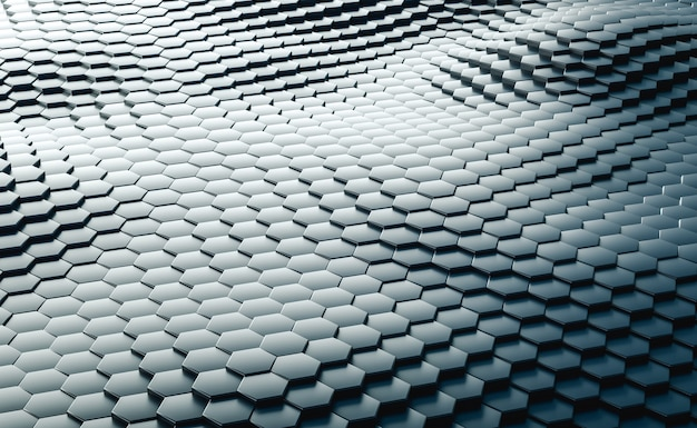 Fondo astratto esagonale geometrico