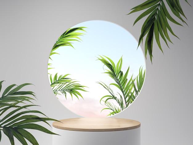 Scena minima geometrica, design per cosmetici o esposizione di prodotti podio 3d rendering.