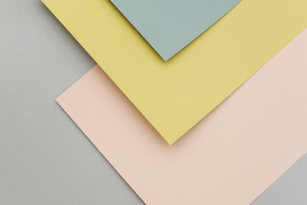 Sfondo di carta geometrica, trama di colori pastello. sfondo per il tuo design