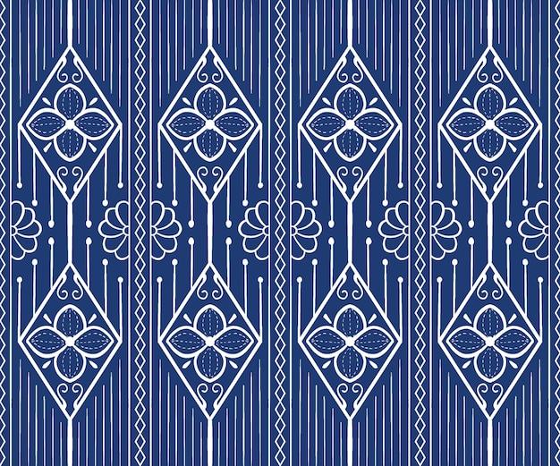 Motivo geometrico senza soluzione di continuità in stile etnico
