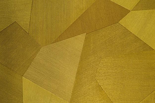 Carta da parati geometrica del fondo del modello senza cuciture con forme astratte dell'oro