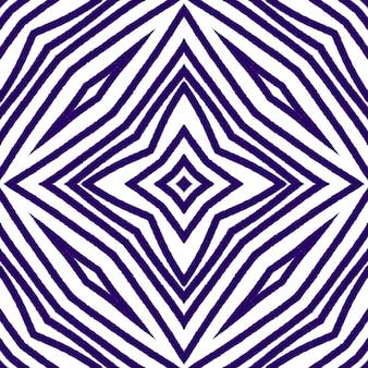 Modello senza cuciture geometrico. sfondo caleidoscopio simmetrico viola. disegno geometrico senza cuciture disegnato a mano. stampa unica tessile pronta, tessuto per costumi da bagno, carta da parati, avvolgimento.
