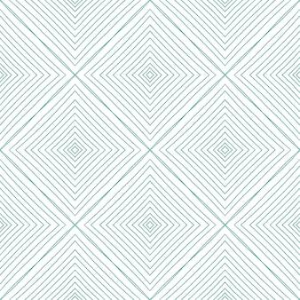 Modello senza cuciture geometrico. fondo simmetrico del caleidoscopio del turchese. disegno geometrico senza cuciture disegnato a mano. stampa in grassetto pronta per tessuti, tessuto per costumi da bagno, carta da parati, involucro.