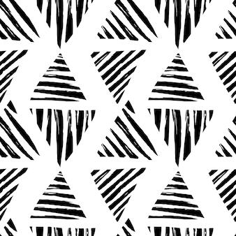 Motivo geometrico senza cuciture con triangoli disegnati a mano