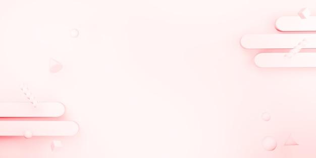 Illustrazione 3d del fondo dolce di colore del gesso di forma geometrica