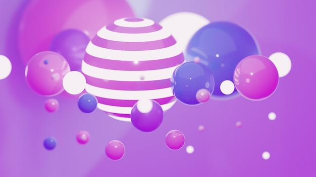 Forme geometriche sfondo toni rosa e azzurro