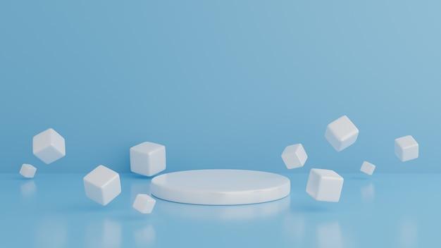 Forme geometriche generato dal computer sfondo minimalista con cubi. estratto.