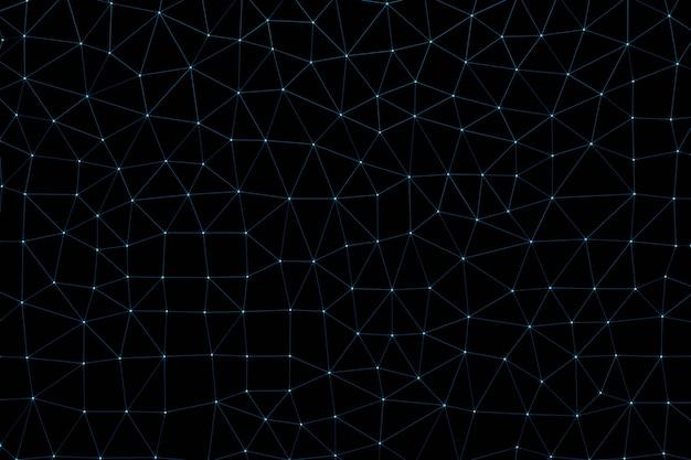 La superficie geometrica di punti e linee collegati assomiglia al world wide web