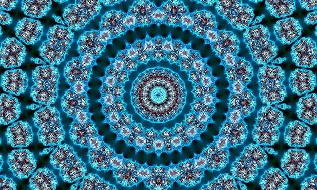 Arte mista motivo geometrico tailandese, arte polinesiana, arte mandala. a forma di esagoni, triangoli e stelle a sei punte. modello caledoscopio per scrapbooking, confezioni regalo, libri, libretti, album.