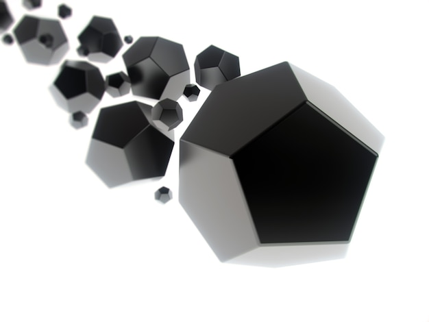 Sfondo geometrico con forme nere astratte e spazio per il testo