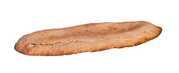 Shoti di pane grigio georgiano isolato su superficie bianca Foto Premium