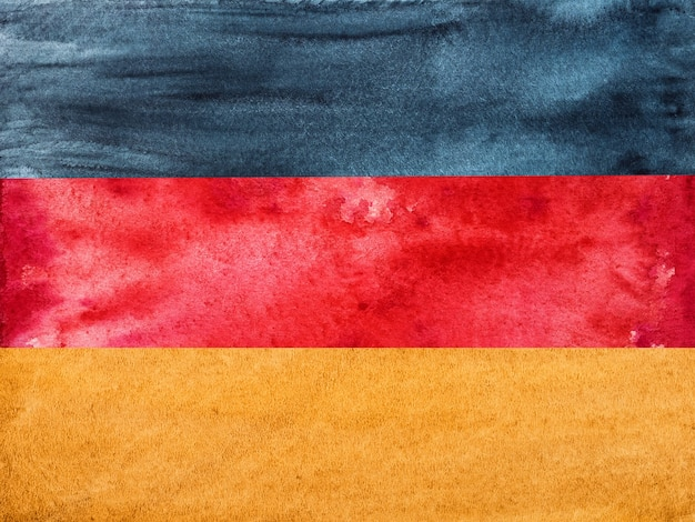 Bandiera tedesca. bellissimo biglietto di auguri. primo piano, vista dall'alto. concetto di festa nazionale.