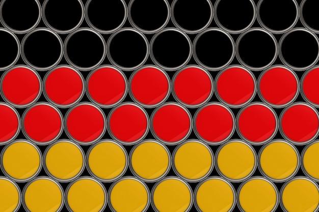 Fondo del modello della bandiera della germania nel secchio di colore