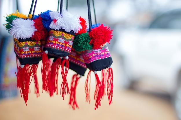 Sacchetti regalo, borse da viaggio, dalle montagne, thailandia.