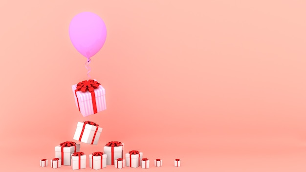 Scatole regalo rendering 3d