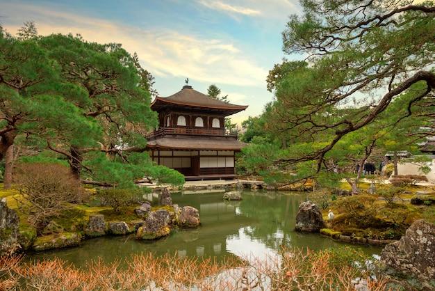 Ginkaku-ji in inverno (tempio del padiglione d'argento) a kyoto, in giappone.