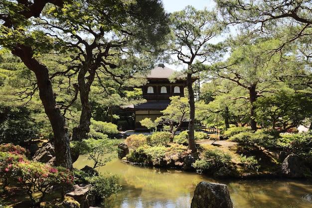 Tempio ginkakuji a kyoto in giappone