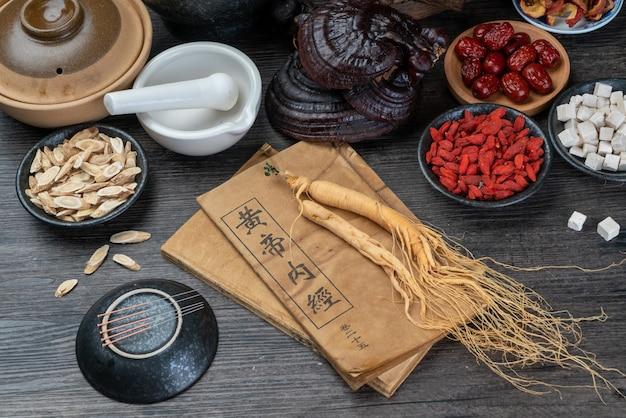Ginseng e medicina tradizionale cinese in tavola