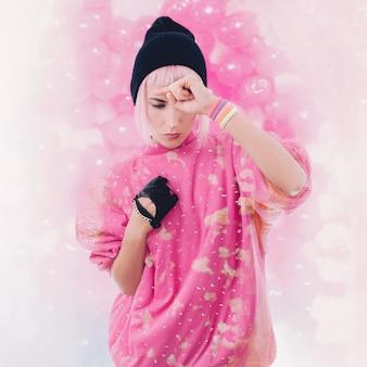 Ragazza che balla nei sogni di vaniglia. foto di moda
