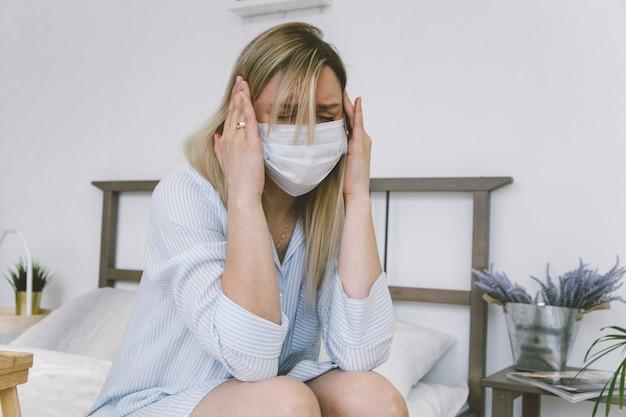 La ragazza è malata a casa